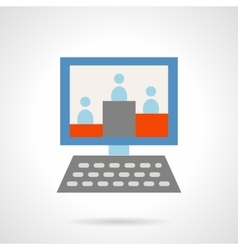 Web audience flat icon vector