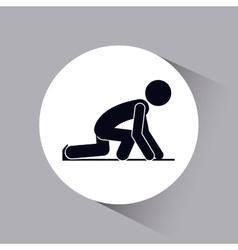 Sport people icon design vector