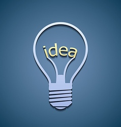 Light bulb with the word idea vector