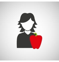 Food and people design vector