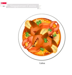 Singaporean chilli crab popular dish in singapore vector