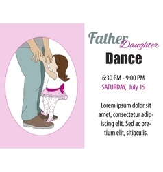 Dad daughter dance invitation poster vector