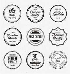 Vintage quality label vector
