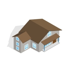 Three storey house icon isometric 3d style vector