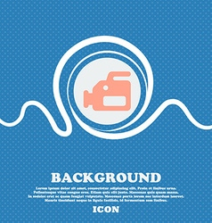 Video camera sign icon blue and white abstract vector