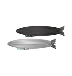 Airship or dirigible zeppelin vector