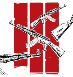 ak-47 poster vector image vector image