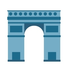 Arc de Triomphe Paris France architecture europe vector image