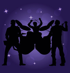 Band of performing musicans vector