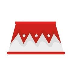 Circus podium isolated icon vector