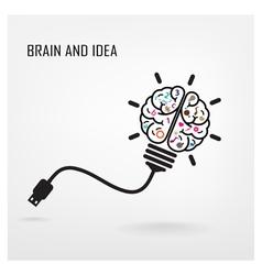 Creative brain idea sign vector