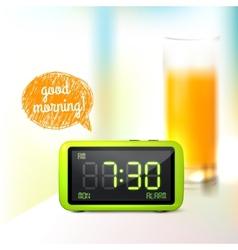 Digital alarm clock background vector