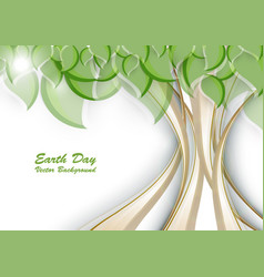earth day background vector image