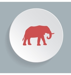 Elephant symbol - vector image vector image