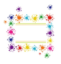 Frame of colorful blots vector