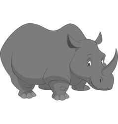 Funny rhino vector image vector image