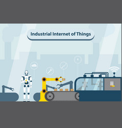 Industrial internet of things vector