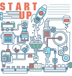 Infographics elements concept of Startup vector image vector image