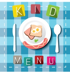 Kids menu cartoon style vector