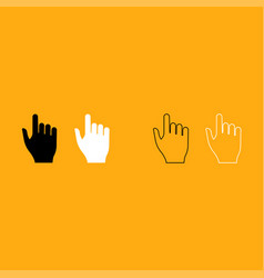 pointing hand it is white icon vector image vector image