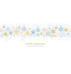 seamless snowflake border festive decoration vector image vector image