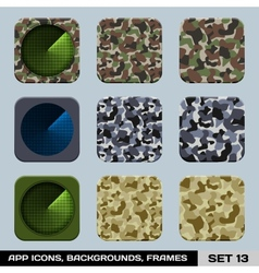 Set Of App Icon Backgrounds Frames Templates Set vector image vector image