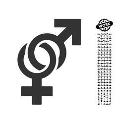 Sexual symbols icon with professional bonus vector