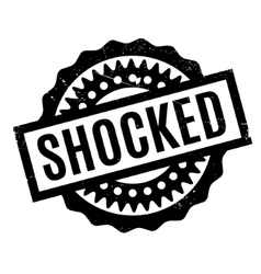 Shocked rubber stamp vector