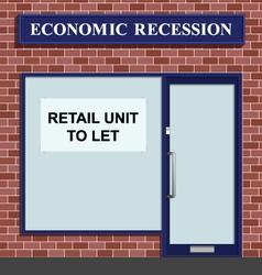 Shop to let vector