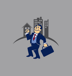 simple businessman go to work vector image vector image