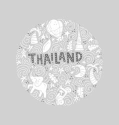 Thailand round concept vector
