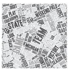 The big ten report text background wordcloud vector