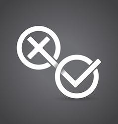 Yes and No symbols vector image vector image