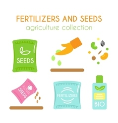 Fertilizer  seeds pack design vector