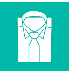 Shirt and tie icon suit men formal business logo vector