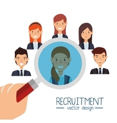 Search human resources recruit design isolated vector