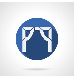 Entrance arch blue round icon vector