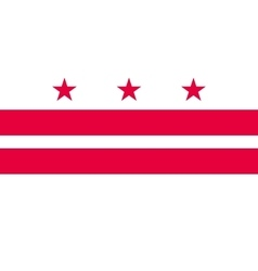 Flag of washington dc correct proportion vector