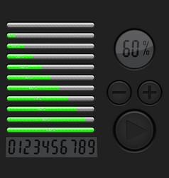 Installation loading progress bar black vector