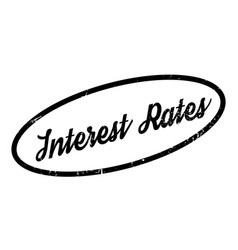 Interest rates rubber stamp vector