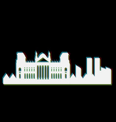 Isolated berlin cityscape vector