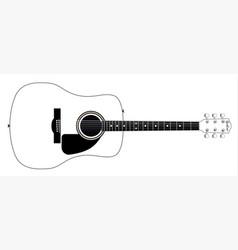 White guitar vector