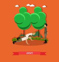 Army concept in flat style vector