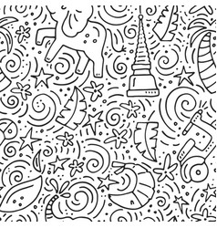 Thailand seamless pattern vector