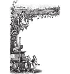 Vineyard Frame vector image
