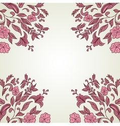 Hand drawn decorative background with flowers vector