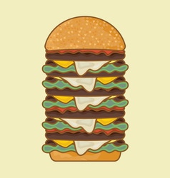 hotdog3 resize vector image