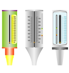 Asthma peak flow meter vector