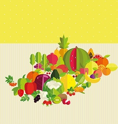 Basics of healthy nutrition vector