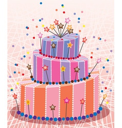 birthday cake vector image